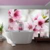 Fotobehang - Spring, bloeiende boom - roze bloemen-1