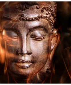 Fotobehang - Buddha. Fire of meditation.-2