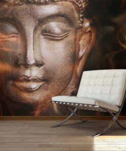 Fotobehang - Buddha. Fire of meditation.-1
