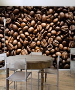 Fotobehang - Roasted coffee beans-1