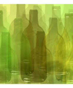 Fotobehang - Groene flessen-2