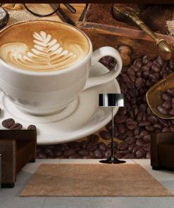Fotobehang - Misschien koffie?-1