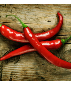 Fotobehang - Spicy chili peppers-2