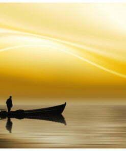 Fotobehang - Fishing at sunset-2
