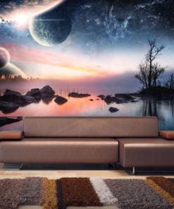 Fotobehang - Kosmisch landschap-1