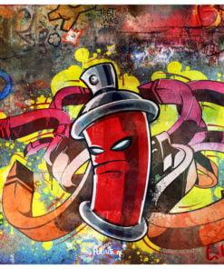 Fotobehang - Graffiti monster-2