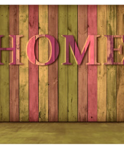 Fotobehang - house (pink)-2