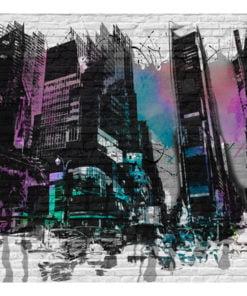 Fotobehang - Buiten de stadsmuren-2