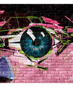 Fotobehang - eye (graffiti)-2