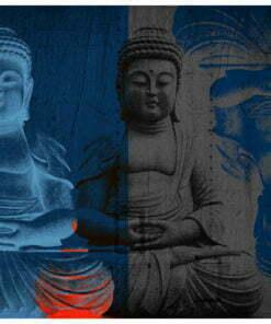 Fotobehang - Drie incarnaties van Boeddha-2