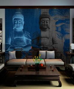 Fotobehang - Drie incarnaties van Boeddha-1