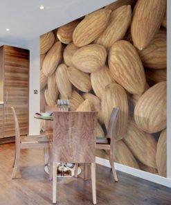 Fotobehang - Tasty almonds-1