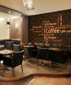 Fotobehang - Latte, espresso, cappucino...-1