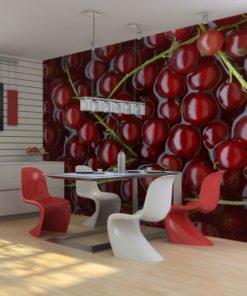 Fotobehang - Rode bessen gebaad in water-1