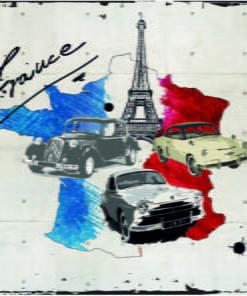 Fotobehang - Admirer of cars (France)-2