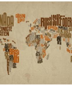Fotobehang - Indiana Jones - map of adventures-2