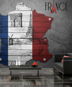 Fotobehang - France (symbols)-1