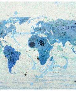 Fotobehang - Cruising and sailing - The World map-2
