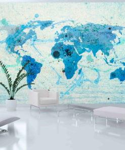 Fotobehang - Cruising and sailing - The World map-1