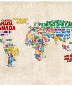 Fotobehang - landkaart (Italiaans)-2