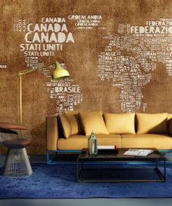 Fotobehang - Antieke Italiaanse kaart-1
