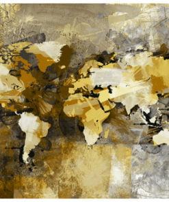 Fotobehang - Artistieke kaart van de Wereld-2