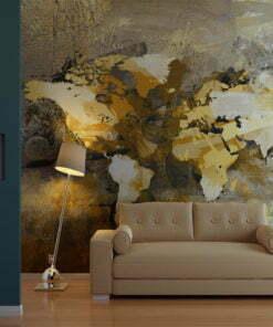 Fotobehang - Artistieke kaart van de Wereld-1