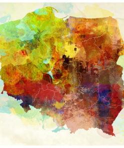 Fotobehang - Map (Poland)-2