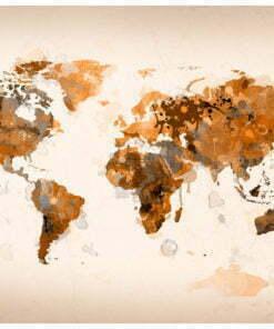 Fotobehang - World in bruine tinten-2