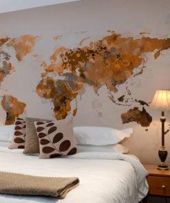 Fotobehang - World in bruine tinten-1