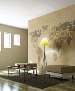 Fotobehang - Kaart van de wereld ontdekkingsreizigers-1