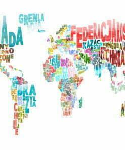 Fotobehang - landkaart - wereld (Pools)-2