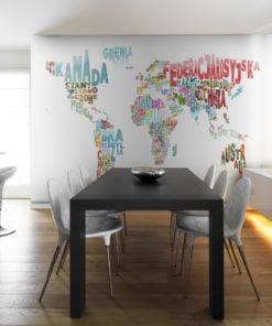 Fotobehang - landkaart - wereld (Pools)-1