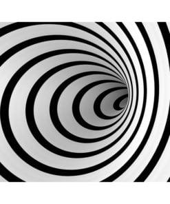 Fotobehang - Zwart-wit 3D tunnel-2