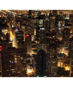Fotobehang - Stad bij nacht - Chicago, USA-2