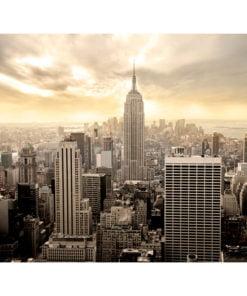 Fotobehang - New York - Manhattan bij zonsopgang-2