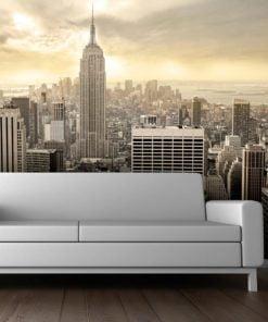 Fotobehang - New York - Manhattan bij zonsopgang-1