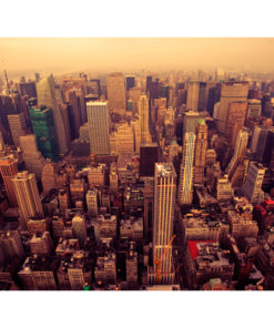 Fotobehang - Bird Eye View van Manhattan, New York-2