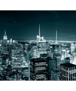 Fotobehang - New York nachtleven-2