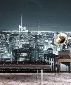 Fotobehang - New York nachtleven-1