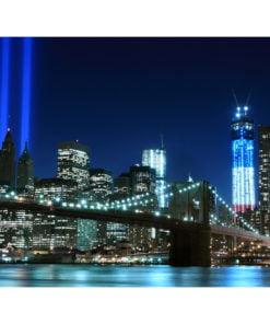 Fotobehang - Floodlights over NYC-2