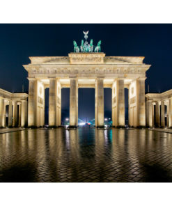 Fotobehang - Brandenburger Tor 's nachts-2