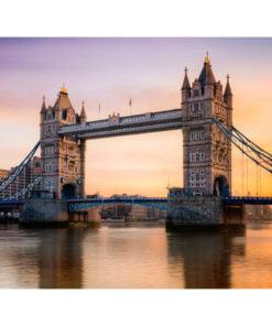 Fotobehang - Tower Bridge bij dageraad-2