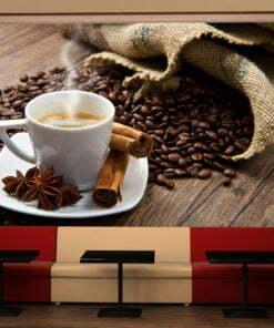 Fotobehang - Star anise coffee-1
