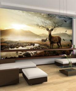 Fotobehang - Herten door bergbeek-1