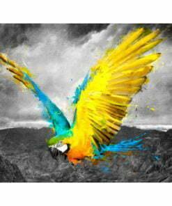 Fotobehang - Exotic parrot-2