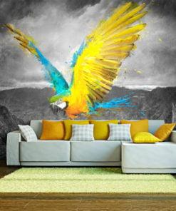 Fotobehang - Exotic parrot-1
