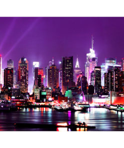 Fotobehang - Rainbow stadslichten - New York-2
