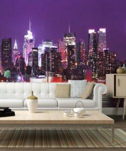 Fotobehang - Rainbow stadslichten - New York-1