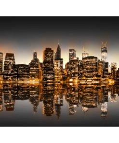 Fotobehang - New York en goud-2